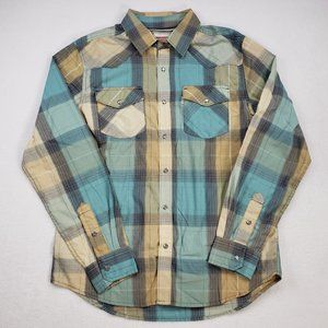 Levis Mens Medium Pearl Snap Western Button Shirt